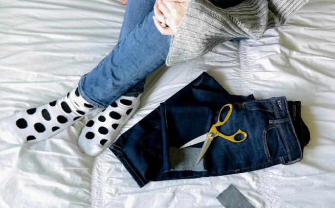 diy uneven hem jeans