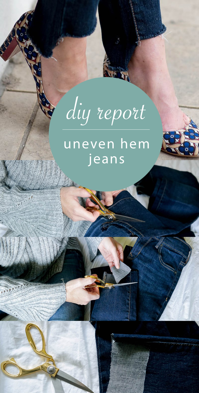 diy uneven hem jeans report
