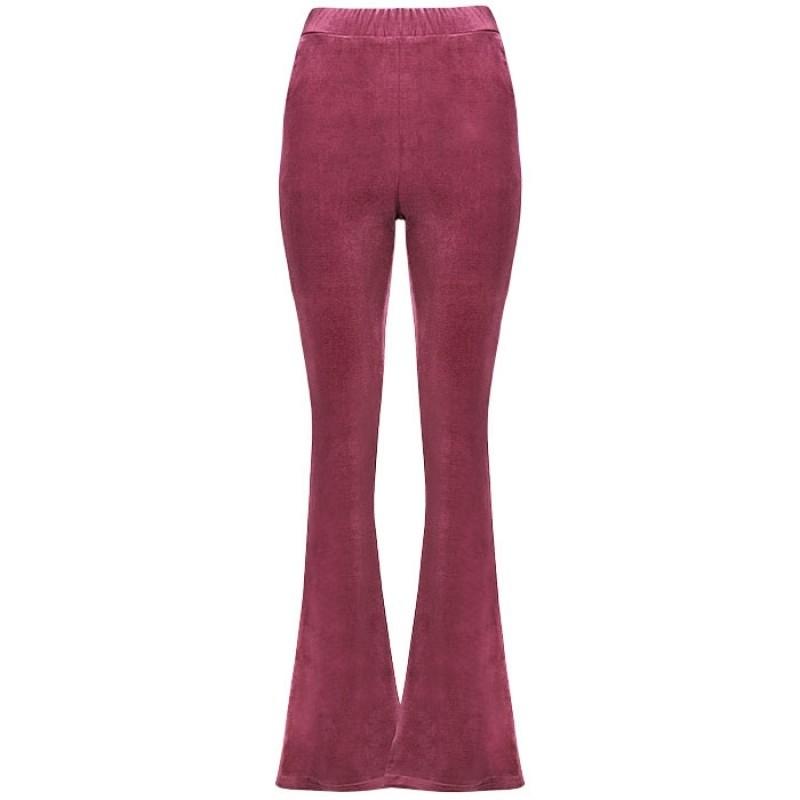 flared pants fluweel