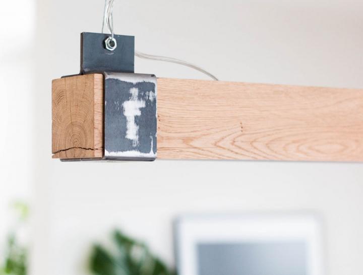 houten balklamp