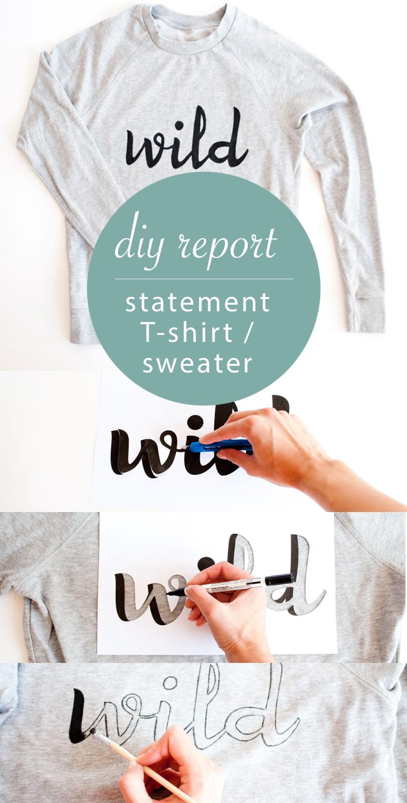 diy statement t shirt report