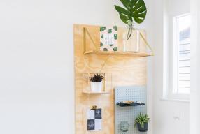 Pegboard DIY – Wandbord maken van underlayment